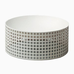 Secessionist White Bowl by Josef Hoffmann for Bieffeplast, 1970s