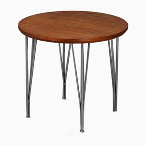 Mid-Century Round Danish Teak Side Table