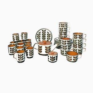 Kaffee- und Teak Set von Roch Belgium Rambovilles, 1966, 38er Set