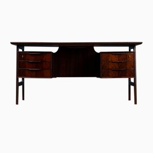 Mid-Century Model 75 Rosewood Desk from Omann Jun