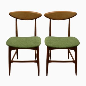 Danish Style Dining Chairs, 1950s, Set of 2
