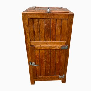 Oak Cooler or Bar Cabinet, 1930s
