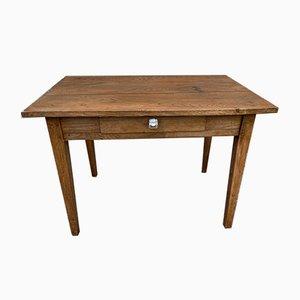 Oak Farm Desk with 1 Drawer, 1920s
