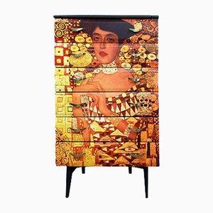 Commode à Tiroirs Mid-Century avec Découpage Gustav Klimt de Meredew