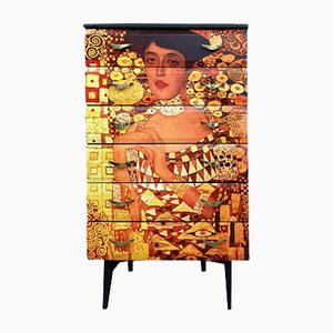 Mid-Century Chest of Drawers with Gustav Klimt Decoupage from Meredew