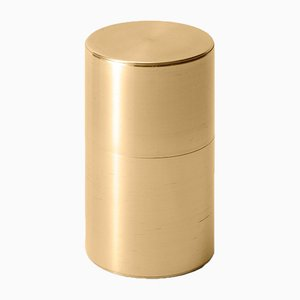 Tea Caddy Brass 200g Long by Kaikado