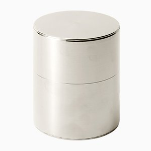 Tea Caddy Tin 200g Wide Push Down from Kaikado