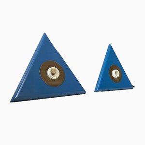Dreieckige Dänische Wandleuchten von Design-Light, 1980er, 2er Set