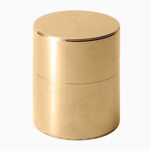 Tea Caddy Brass 400g Wide from Kaikado