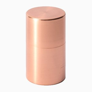 Tea Caddy Copper 200g Wide Push Down from Kaikado
