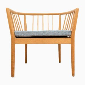 Mid-Century Swedish Oak Armchair from Illums Bolighus