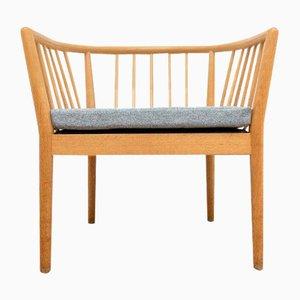 Schwedischer Mid-Century Armlehnstuhl aus Eiche von Illums Bolighus
