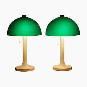 Fiberglass Table or Desk Lamps from Falkenbergs Belysning, Sweden, 1970s, Set of 2