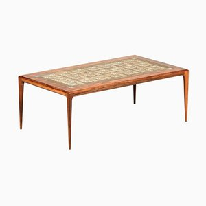 Large Rosewood & Ceramic Coffee Table by Johannes Andersen, 1960s