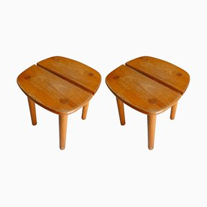 Coffee Bean Model Stools by Pierre Gautier-Delaye, France, 1960s, Set of 2