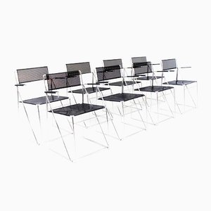 X Line Chairs by Niels Jørgen Haugesen for Hybodan, Set of 8
