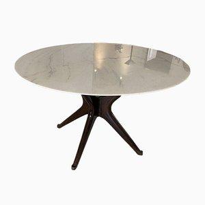 Ebonisierter Vintage Tisch aus Calacatta Marmor