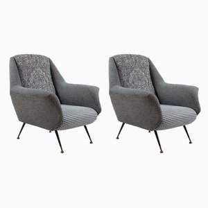 Armchairs in the Style of Marco Zanuso, 1950s, Set of 2