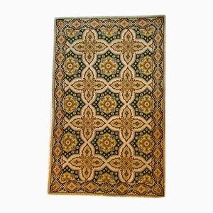 Portuguese Ocher Background Arraiolos Carpet, 1970s