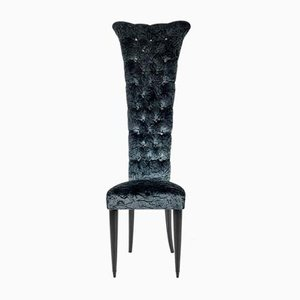 Vintage Velvet Throne Chair
