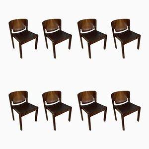 Modell 122 Stühle von Vico Magistretti für Cassina, 1967, 8er Set