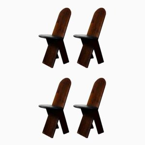Chairs by Marco Zanuso for Poggi, 1970s, Set of 4