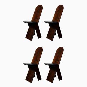 Chaises par Marco Zanuso pour Poggi, 1970s, Set de 4