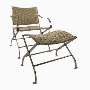 Carlotta Garden Chair & Ottoman from Flexform, 1997, Set of 2