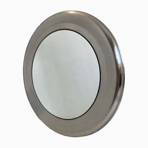 Aluminium Round Mirror, 1960s