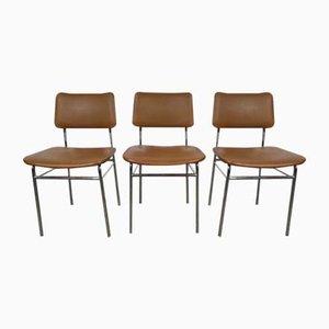 Beistellstühle mit Rohrrahmen, 1960er, 3er Set