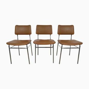 Tubular Side Chairs, 1960s, Set of 3
