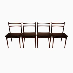 Scandinavian Rosewood Dining Chairs by Henry Rosengren Hansen for Brande Møbelindustri, 1960s, Set of 4