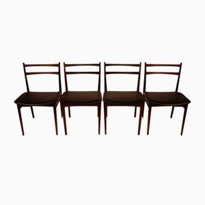 Skandinavische Palisander Esszimmerstühle von Henry Rosengren Hansen für Brande Møbelindustri, 1960er, 4er Set