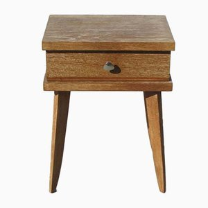 Scandinavian Oak Nightstand, 1950s