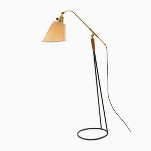 Swedish Brass Floor Lamp, 1950s