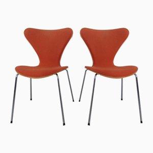 Sedie da pranzo 3107 di Arne Jacobsen per Fritz Hansen, 1996, set di 2