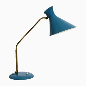 Large Mid-Century Italian Diabolo Table Lamp with Rotatable Neck