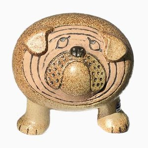 Bulldog Mid-Century in ceramica di Lisa Larsson per Gustavsberg