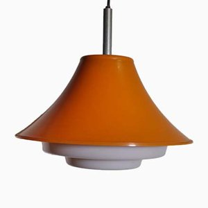 Spage Age Orange Ceiling Lamp, 1970s