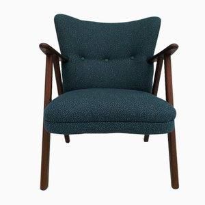 Danish Wool Armchair, 1960s