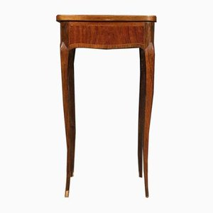 French Side Table in Inlaid Wood