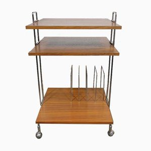 Teak Trolley with Magazine Rack, 1960s