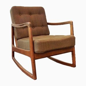 Mid-Century Model FD-120 Rocking Chair by Ole Wanscher for France & Søn / France & Daverkosen