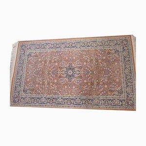 Mid-Century Carpet with Flower Design