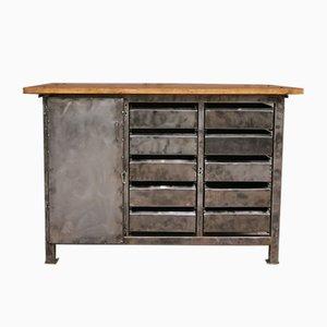 Metal & Wood Tool Cabinet, 1970s