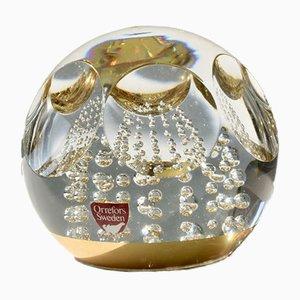 Fermacarte vintage in cristallo di Olle Alberius per Orrefors