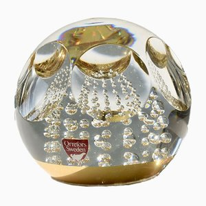 Vintage Crystal Paperweight by Olle Alberius for Orrefors