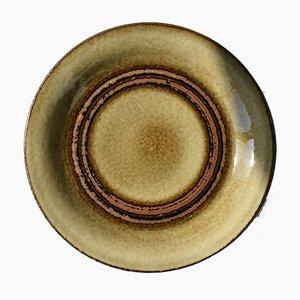 Piatti in bambù moderni in ceramica di Olle Alberius per Rörstrand, Scandinavia, anni '60, set di 12