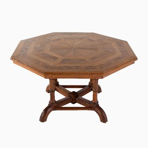 Mesa octagonal de roble de Howard & Sons, siglo XIX