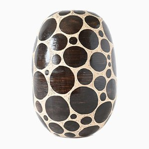 Black Dotted Treasures Vase by Atelier KAS